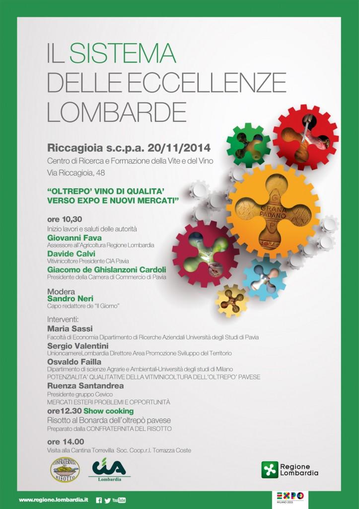 invito convegno Eccellenze Lombarde_Pavia 20.11.14